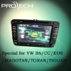 Special for VW B6/CC/EOS/MAGOTAN/TORAN/TIGUAN car dvd player GPS navigation system Bluetooth Ipod HD LCD Win CE6.0 PIP