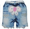 Children's fashionable pure cotton short jeans