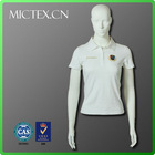 100% cotton clothes women new design white polo t shirt