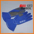 blue sparco racing rally safety gloves glove
