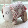 2012 fashion small flower dog design cotton fabric toilet tissue cover
