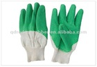 White Cotton Latex Coated Rubber Gloves