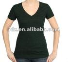 V-neck fashion T-shirt for woemen