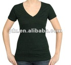 V-neck fashion T-shirt for woemen