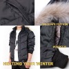 Mens Down Coat Padded with 80% Down&20%Feather