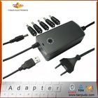 Manual Mini universal power adapter for laptop 40w with USB one knob key, CE certificated