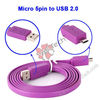 Purple 100CM High Speed 2.0 USB Cable A Male to Micro B 5 Pin Data Cable