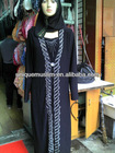 AB197 latest design rhinestone abaya,islamic clothing