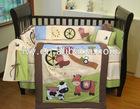 100%cotton applique embroidery baby bedding