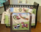 100%cotton applique embroidery baby bedding