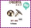 brass cap rivet RV-001 6.6mm for jeans
