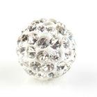 New Arrival Round White Shamballa Crystal Disco Ball Beads DIY Jewelry Making 10mm 111753