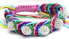 BLO014 special shamballa bracelet crystal ball