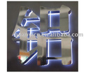 Sparkling 304# stainless steel backlit led sign