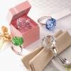 crystal diamond napkin ring & diamond napkin holder