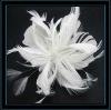 2012 Lastest feather flower hair clip,hair flower