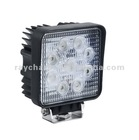 12V 27W flood beam LED work light for machine, marine, 1210-27W