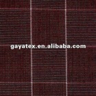 120s compacted spin 100%cotton yarn dyed fabric high density shirt plaid brush