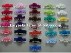 "wholesale handmade DIY baby lace headbands,6""length elastic lace headband"