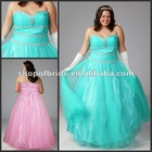 2012 New Designs Elegant Strapless Plus Size Ball Gown QNPD12107-13