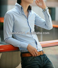 Slim fit French shirt style 100%Cotton High quality casual shirt for men with artificial silk high collar&cuff