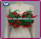 Latest Fashion Show Sexy Style Feather Bra