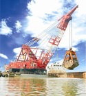 Grab dredger (dredger,floating crane,barge crane)