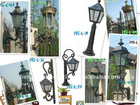 cast iron/aluminum wall lamps and little stand lamps