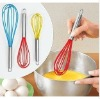 High Quality Rainbow Silicone Coated Egg Whisk with Stainless Steel Handles