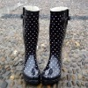 Black Reinforced Women's Rubber Boots