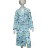 ladies print polar fleece robe