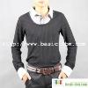 Men's Long Sleeve Fake 2-pieces Shirt Collar T-Shirt