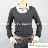 Men's Long Sleeve Fake 2-pieces Shirt Collar T-Shirt