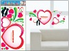 love shape wall sticker