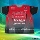 Sublimation printing motor t shirt racing wear