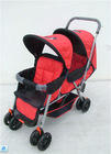square tube twin stroller