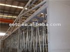 Intake pulse filter house for gas turbine manufacturer