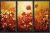 100% handmade flower group oil paintings