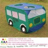 kids playing bus toy tent