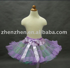Newest style CS-027 zhenzhen three layers tutu pettiskirt