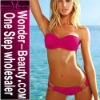 Hot pink brand padded bikini swimwear