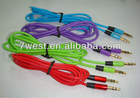 Colorful 3.5mm Audio Extension AUX Cable for iphone4/4s