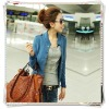 2012 latest autumn Korean Ladies' Solid Color Stand Collar Long Sleeve Coat