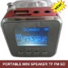 great quality portable mini speaker with fm radio sd card reader
