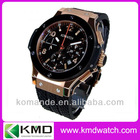 2012 Top brand watch for men with rubber band multiple time zones