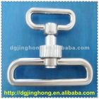 pearl nickel metal plated swivel snap hook