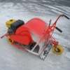 Hard ice and snow-removing machine
