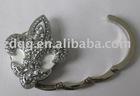 luxury foldable handbag hook/bag holder with crystal