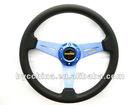 New Arrive Cheapest MOMO PU Flat Steering Wheel