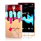 Fancy melt ice cream case tpu gel skin for sony ericsson lt26i xperia s
